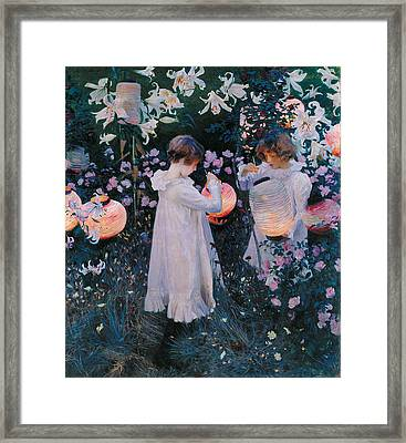 Carnation Lily Lily Rose Framed Print