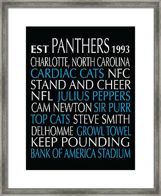 Carolina Panthers Framed Print