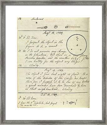 Caroline Herschel Nebula Discovery Framed Print