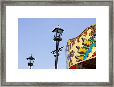 Carousal Framed Print by Tom Gowanlock