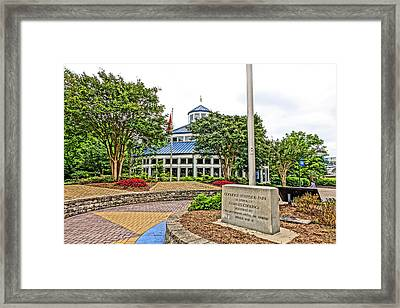 Carousel In Coolidge Park Framed Print by Tom and Pat Cory
