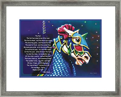 Framed Print featuring the painting Carousel  by Ron Haist