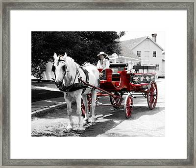 Carriage Ride Framed Print by Raymond Earley