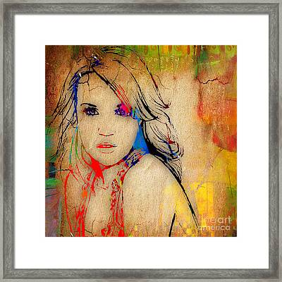 Carrie Underwood Painting. Framed Print
