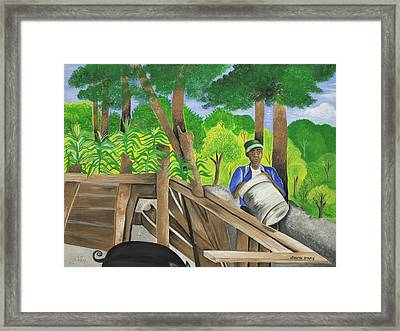 Carrying The Load Framed Print by Patricia Sabree