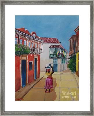 Cartagena Seller Framed Print