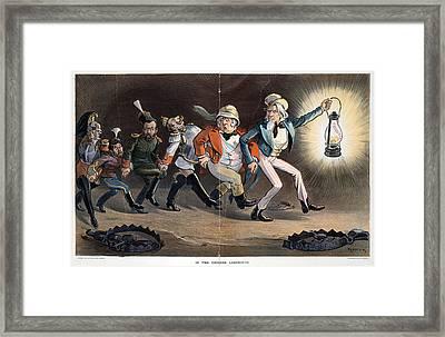 Cartoon Boxer Rebellion Framed Print by Granger