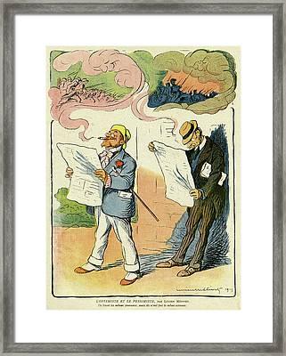 Cartoon, The Optimist Framed Print