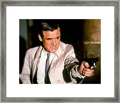 Cary Grant In Charade  Framed Print