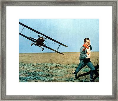 Cary Grant In North By Northwest  Framed Print