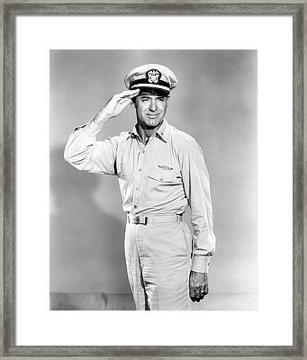 Cary Grant In Operation Petticoat  Framed Print by Silver Screen