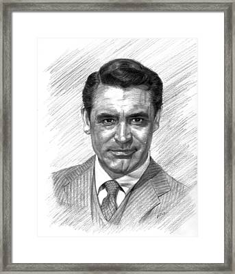Cary Grant Framed Print by Lou Ortiz