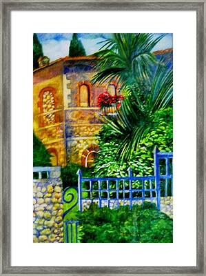 'casa At Radda' Framed Print