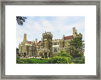 Casa Loma In Toronto Framed Print