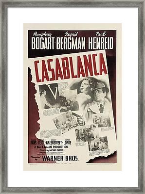Casablanca Framed Print by Georgia Fowler