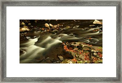 Cascades In Autumn Framed Print by Dan Sproul