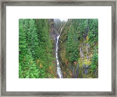 Cascades Waterfall Framed Print
