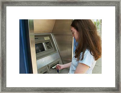 Cash Machine Use Framed Print