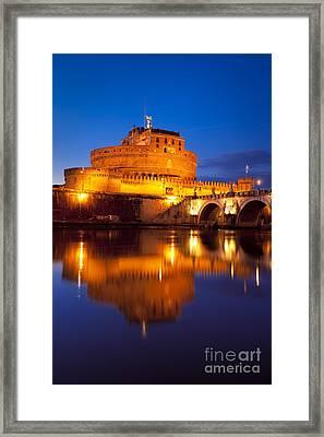 Castel Sant Angelo Framed Print by Brian Jannsen