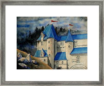 Framed Print featuring the painting Castle In The Black Forest by Ranjini Kandasamy