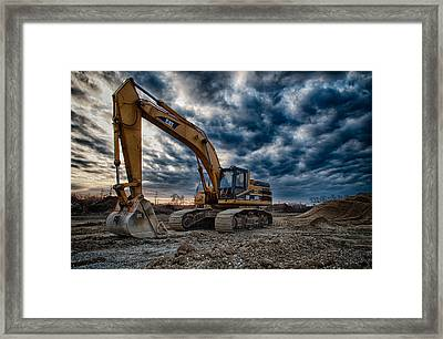 Cat Excavator Framed Print