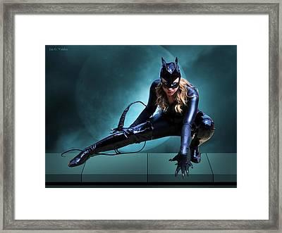 The Feline Fatale Framed Print