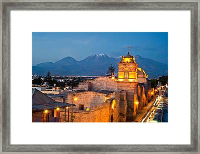 Catalina Convent Arequipa Framed Print