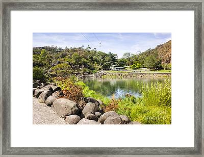 Cataract Gorge Basin Chairlifts In Launceston Framed Print