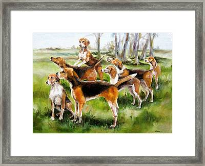 Catching The Scent Framed Print