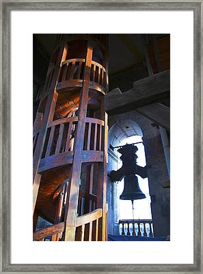 Cathedral Bell Tower Framed Print by John  Bartosik