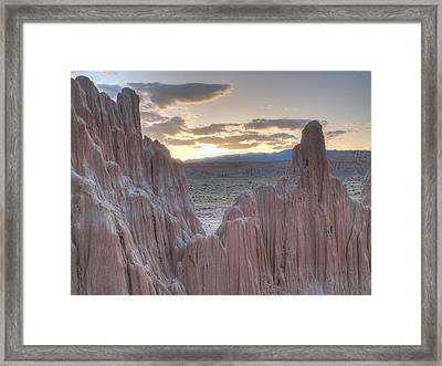 Cathedral Gorge Framed Print by Jenessa Rahn
