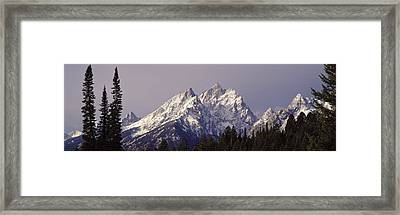 Cathedral Group Grand Teton National Framed Print by Panoramic Images