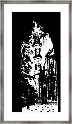 Cathedral In Black And White Framed Print by Oscar Penalber
