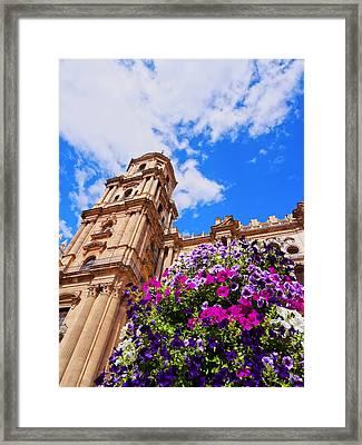 Cathedral In Malaga Framed Print by Karol Kozlowski