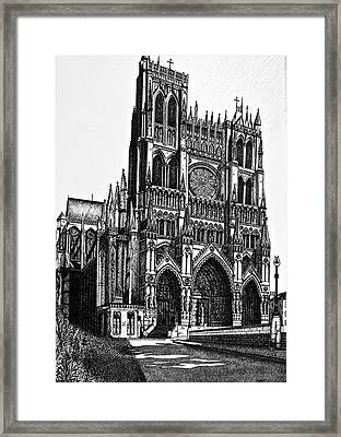 Framed Print featuring the mixed media Cathedral by Lori Miller
