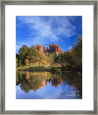 Cathedral Rock Framed Print by Medicine Tree Studios