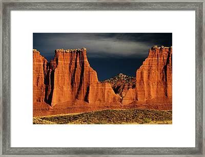 Cathedral Valley, Capitol Reef National Framed Print by Michel Hersen