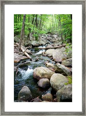 Catskills Waterfall Framed Print