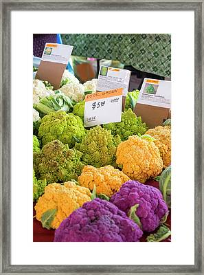 Cauliflower Market Stall Framed Print by Jim West
