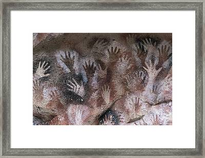 Cave Of The Hands. Argentina. Santa Framed Print by Everett