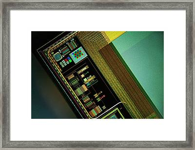 Ccd Camera Sensor Framed Print by Antonio Romero