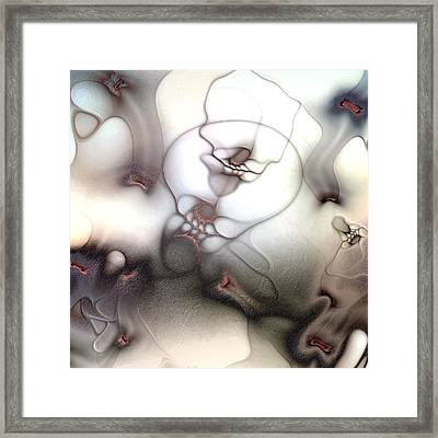 Framed Print featuring the digital art Ceaseless Vicissitude by Casey Kotas