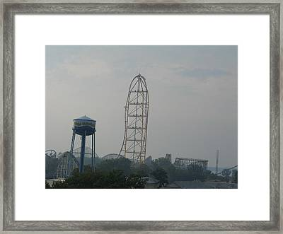 Cedar Point - Top Thrill Dragster - 12123 Framed Print by DC Photographer
