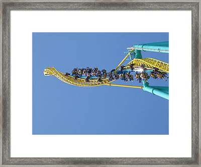 Cedar Point - Wicked Twister - 12122 Framed Print by DC Photographer