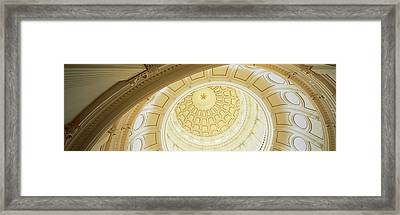 Ceiling Of The Dome Of The Texas State Framed Print