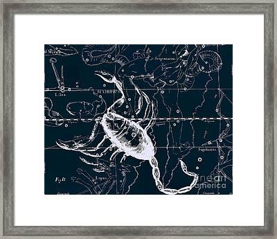 Celestial Antique Map Framed Print