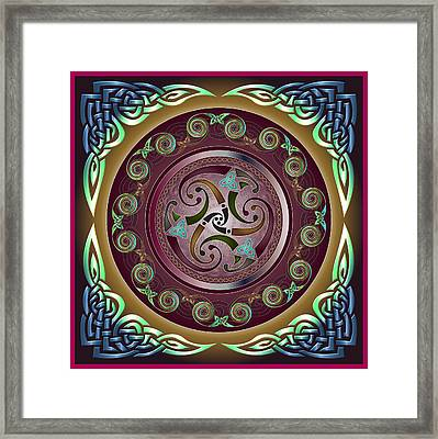 Celtic Pattern Framed Print by Ireland Calling