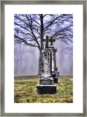 Cemetery Framed Print by HD Connelly