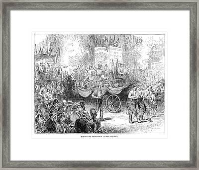 Centennial Parade, 1876 Framed Print by Granger