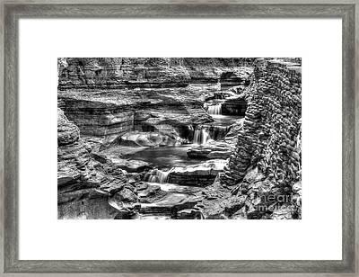 Central Cascade Watkins Glen Framed Print